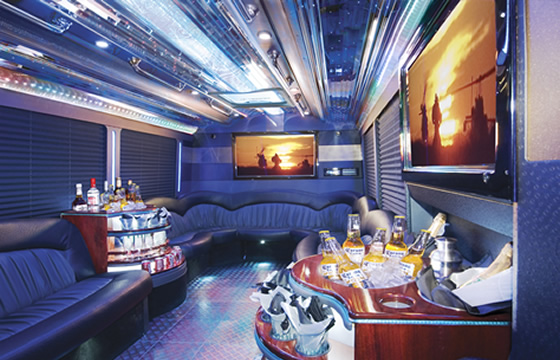 party buses. Party Bus Interior