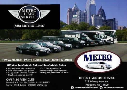 Long Island Limo Service - Metro Limousine Service Company